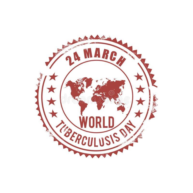 导航时髦的文本的例证世界防治结核病日的 皇族释放例证