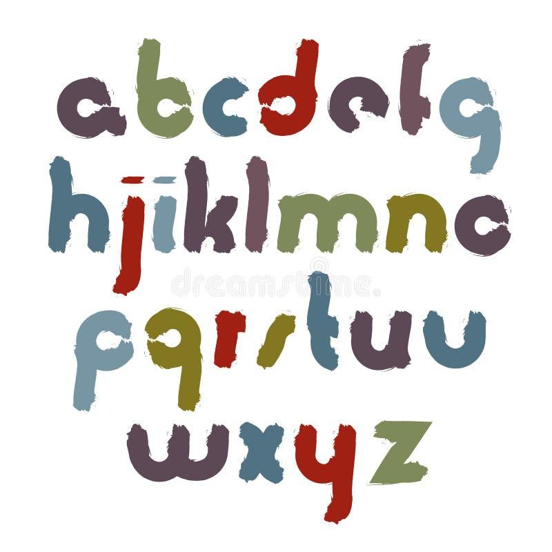 导航明亮的被抹上的幼稚字体,手写的水彩lowe 库存例证