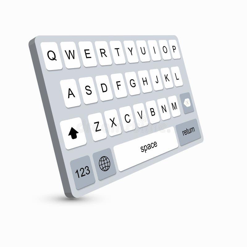 导航智能手机,字母表按钮现代键盘  皇族释放例证