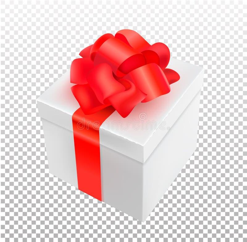 导航有蝶形领结的现实3d礼物箱子 皇族释放例证