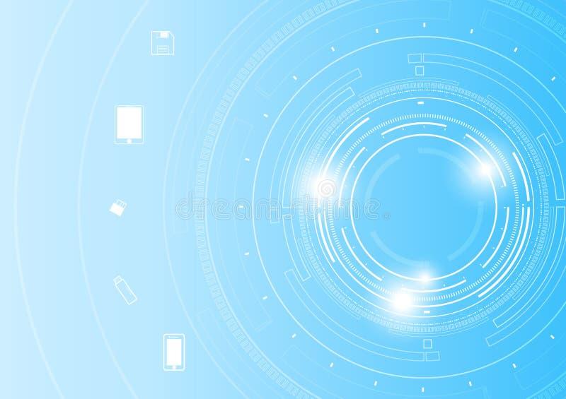 导航未来圈子技术和技术电信概念 皇族释放例证