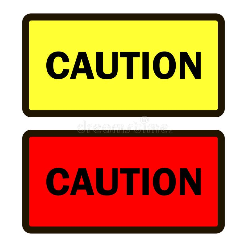 导航标志的一套的图象警告关于危险和abou 皇族释放例证