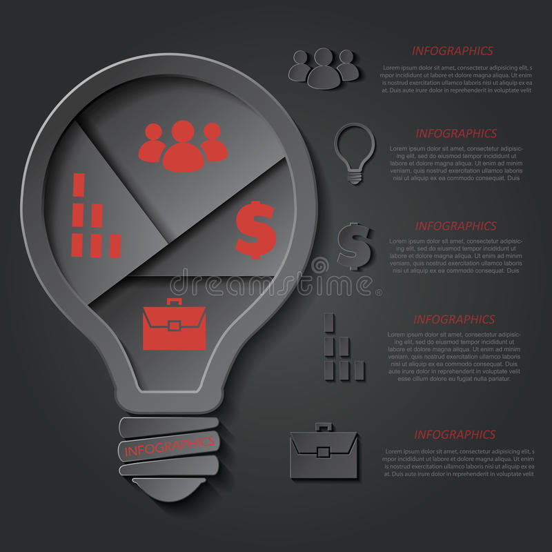 导航模板infographic为企业项目或介绍 皇族释放例证