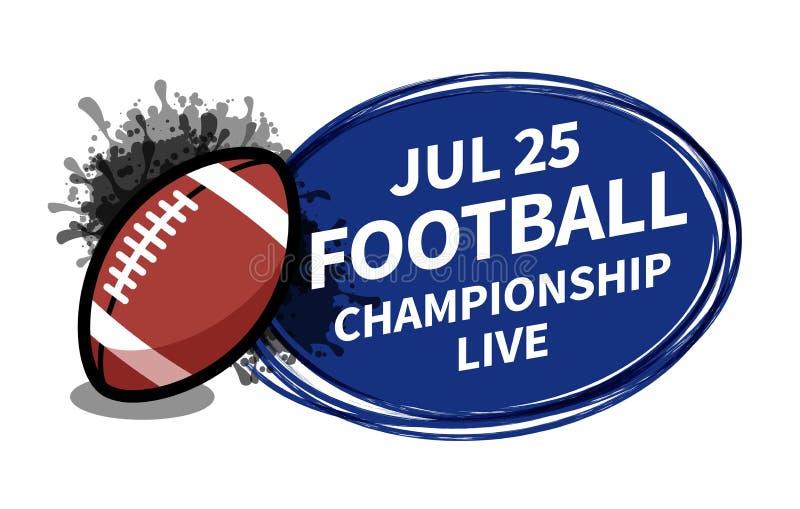 导航橄榄球橄榄球体育记分牌聚光灯拷贝文本广告的背景地方 横幅,飞行物,海报,电视概念des 库存例证