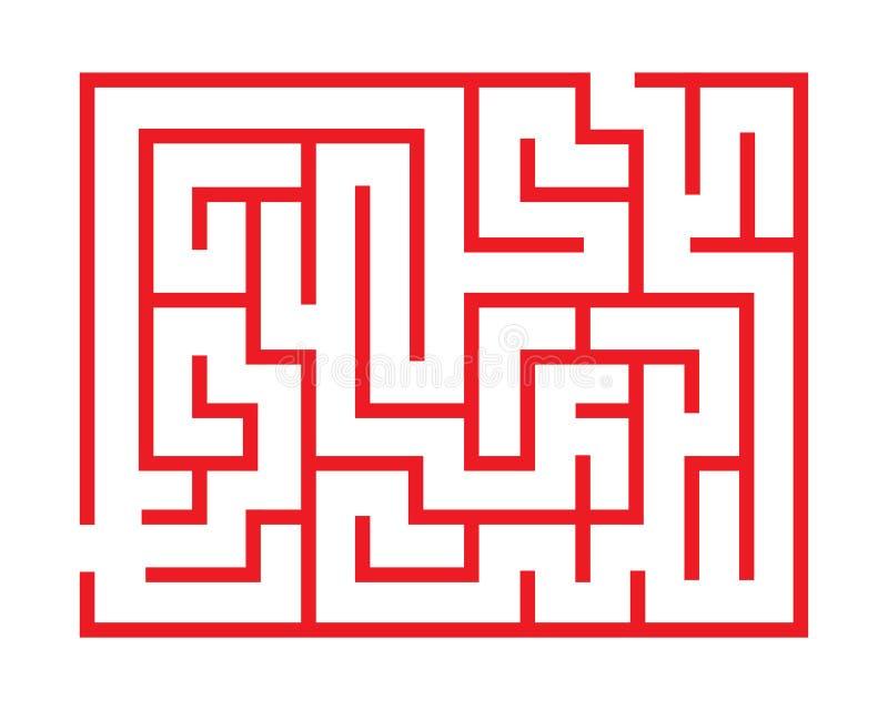 导航比赛的有趣的迷宫 向量例证