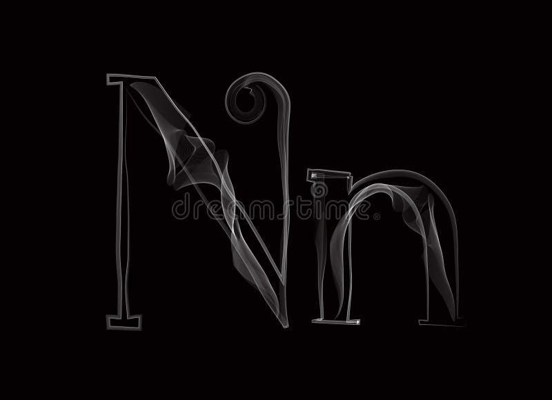导航烟或变朦胧信件字体类型,两封信件 皇族释放例证