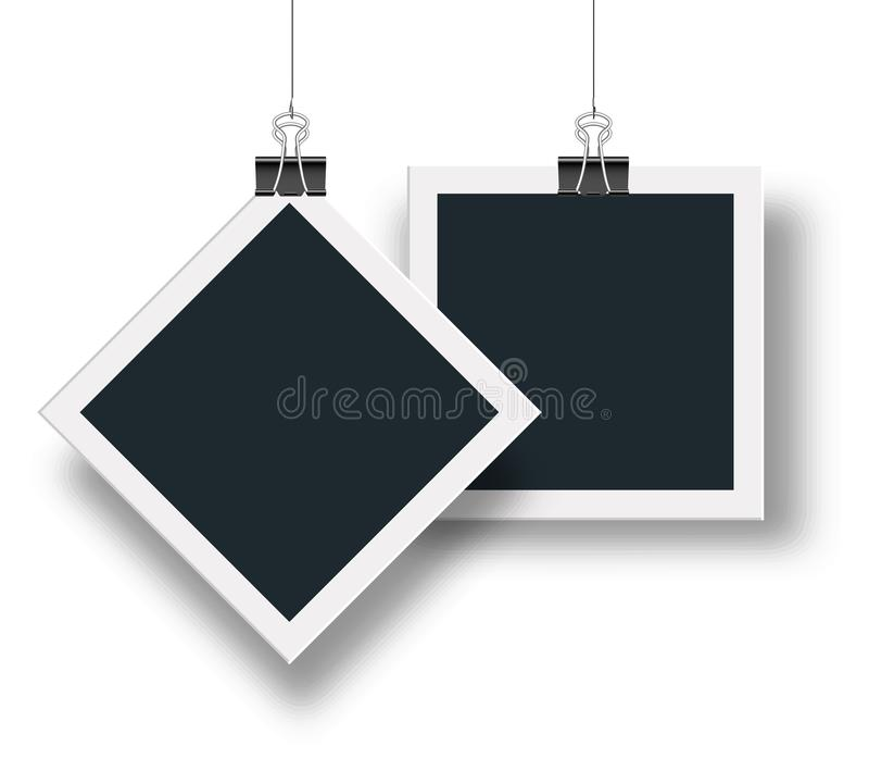 导航照片框架递交您创造性的设计和家庭照片,朋友照片 储蓄传染媒介 库存例证