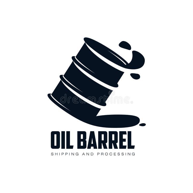 导航燃料石油桶,油下落简单的平的象 皇族释放例证