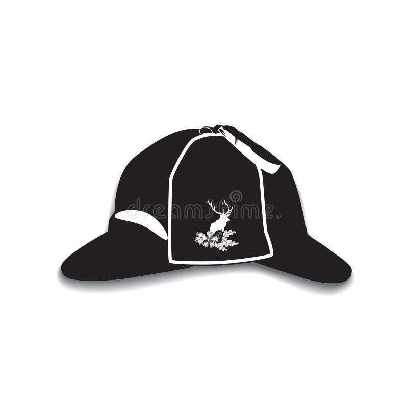 导航猎鹿人帽子的例证在平的样式的 向量例证