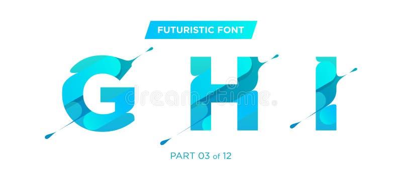 导航现代,未来派字体设计 为海报完善 库存例证
