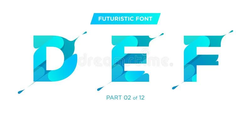 导航现代,未来派字体设计 皇族释放例证