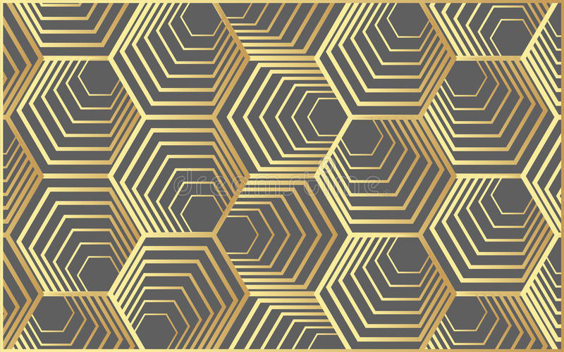 导航现代几何样式六角形,摘要几何背景,时髦印刷品,单色减速火箭的纹理,行家时尚des 免版税库存图片