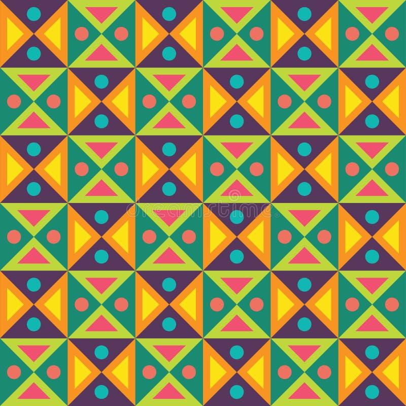 导航现代无缝的五颜六色的几何三角光点图形,颜色摘要 库存例证