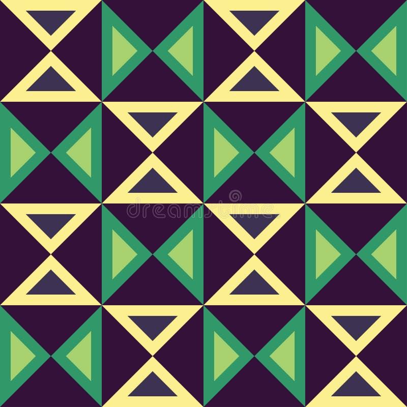 导航现代无缝的五颜六色的几何三角样式,颜色摘要 皇族释放例证