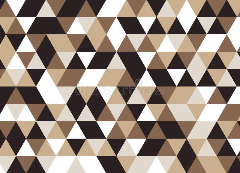 导航现代无缝的五颜六色的几何三角样式,颜色 库存例证