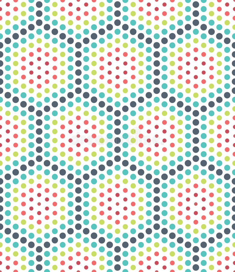 导航现代无缝的五颜六色的几何光点图形,颜色摘要 库存例证