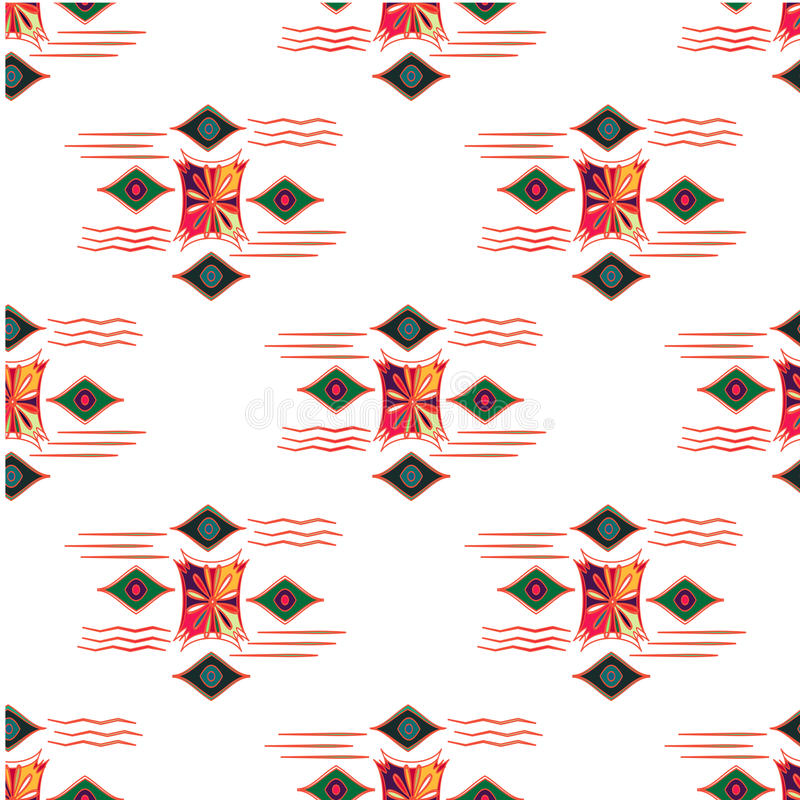 导航现代无缝的五颜六色的几何样式,颜色抽象几何背景,把多彩多姿的印刷品枕在 向量例证