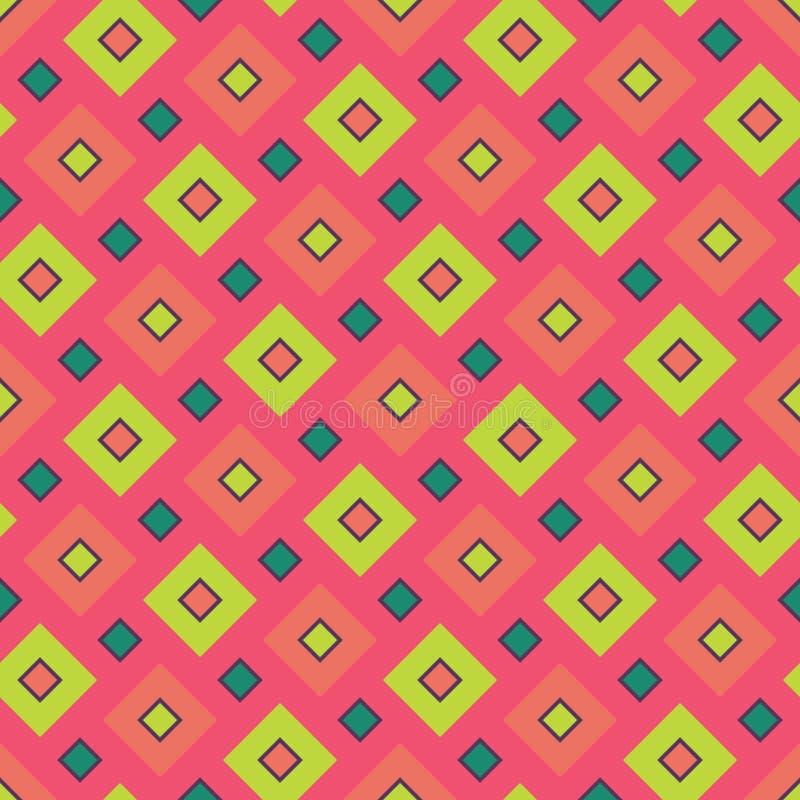 导航现代无缝的五颜六色的几何正方形样式,颜色摘要 皇族释放例证