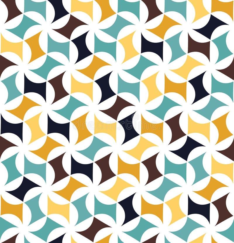 导航现代无缝的五颜六色的几何花卉样式,颜色摘要 向量例证