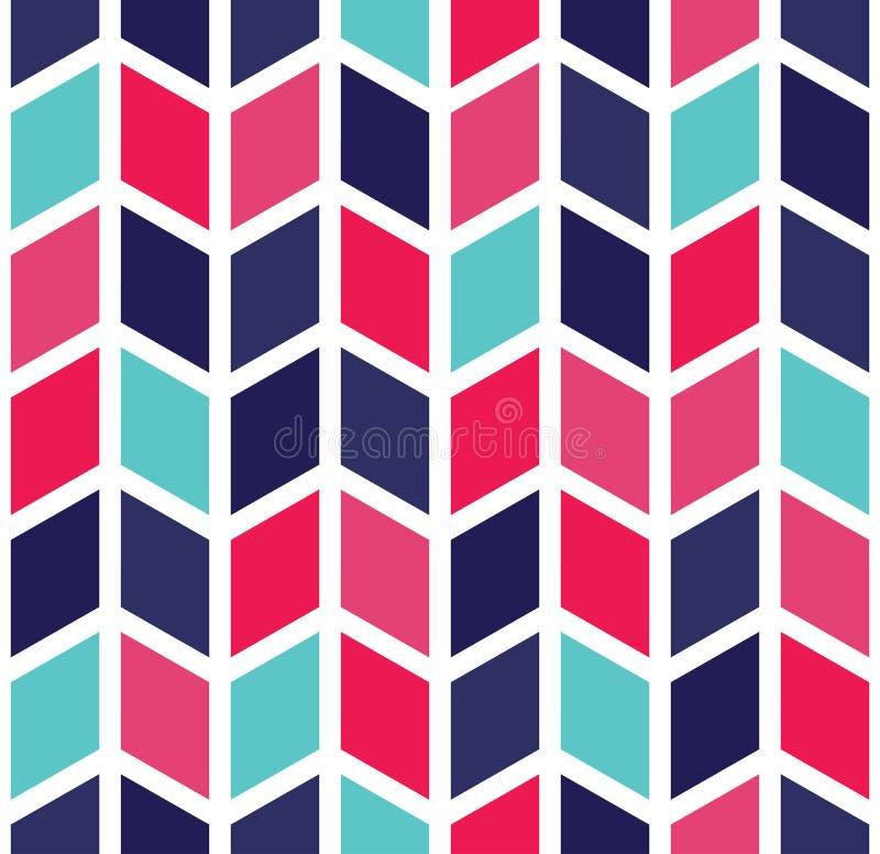 导航现代无缝的五颜六色的几何V形臂章样式,颜色摘要 皇族释放例证