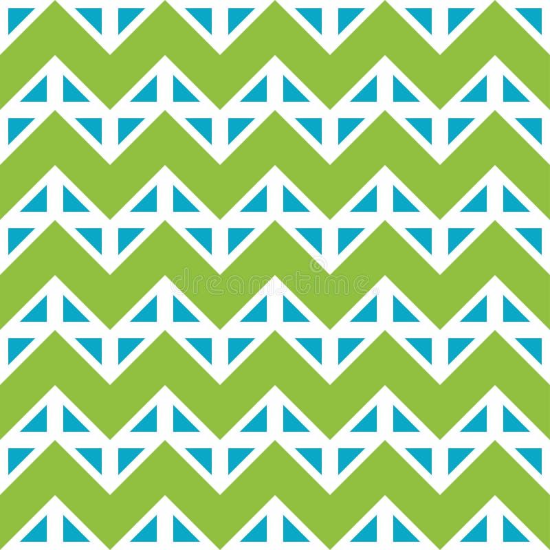 导航现代无缝的五颜六色的几何V形臂章线样式,颜色蓝绿色摘要 库存例证