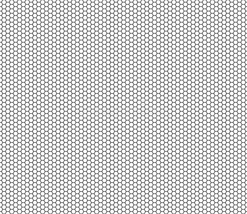 导航现代无缝的几何样式六角形,黑白抽象几何背景 库存例证