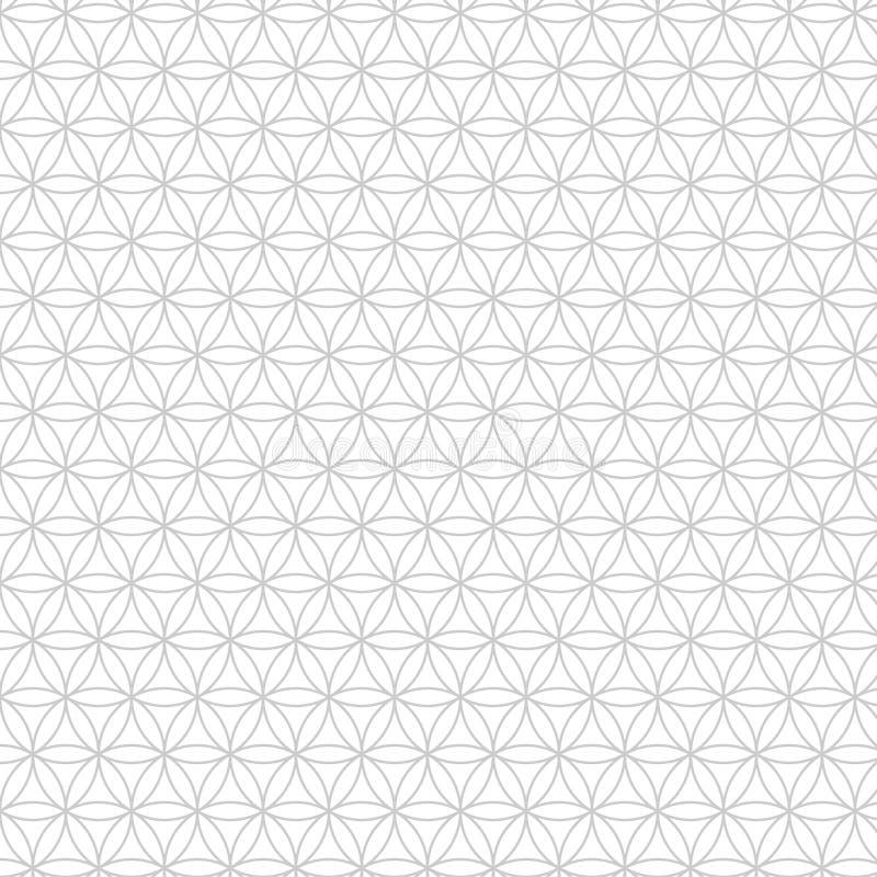 导航现代神圣的几何无缝的样式,生活花,设计抽象纹理 向量例证