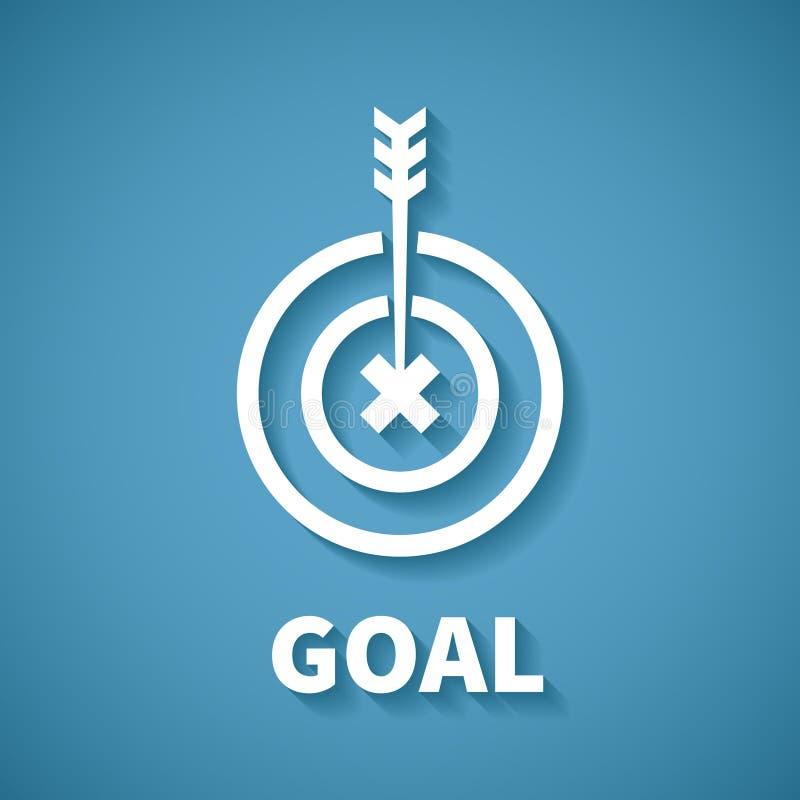 导航目标或目标成就的概念与箭箭头 皇族释放例证