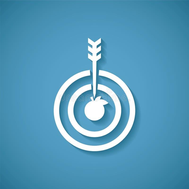 导航目标或目标成就的概念与箭箭头 库存例证
