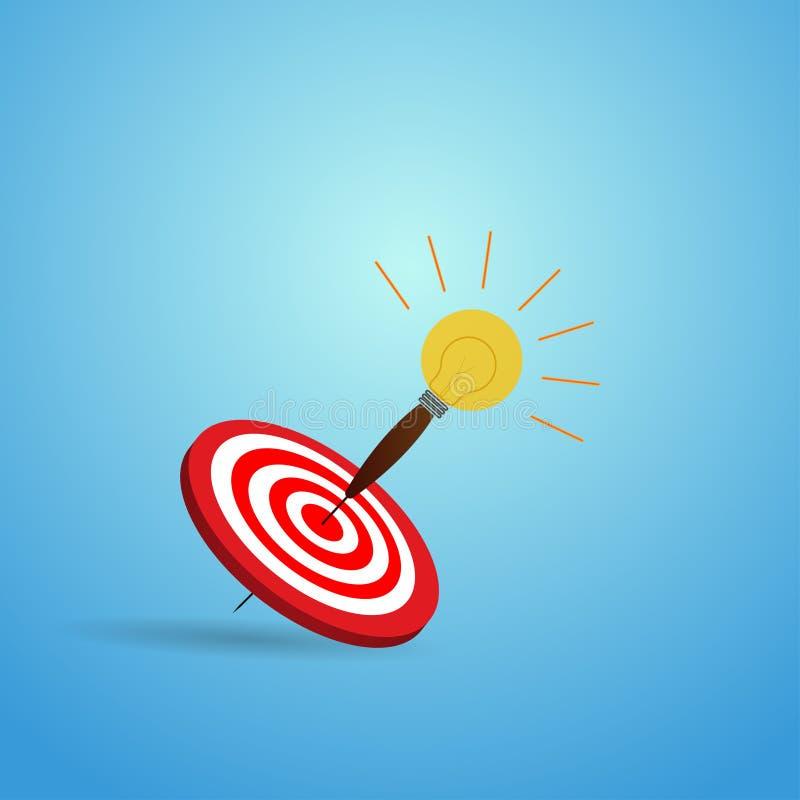 导航目标的例证与电灯泡箭头象的 库存例证