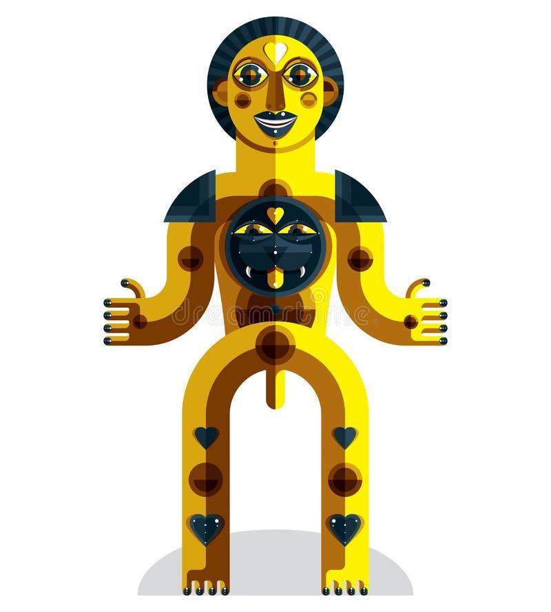 导航神话人的先锋派的例证,异教的标志 库存例证