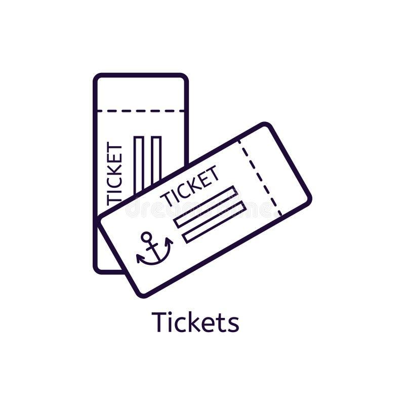 导航票象在白色背景的 向量例证