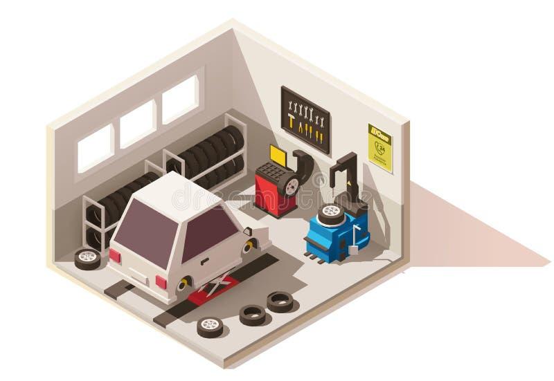 导航等量低多车胎服务象 库存例证