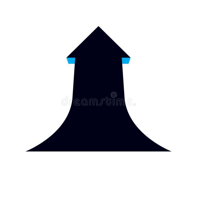 导航箭头,图形设计元素的助力 在白色背景隔绝的业务发展商标 公司增加 库存例证