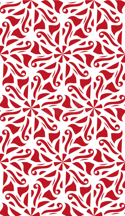 导航红色抽象在白色背景的锦缎无缝的样式 向量例证