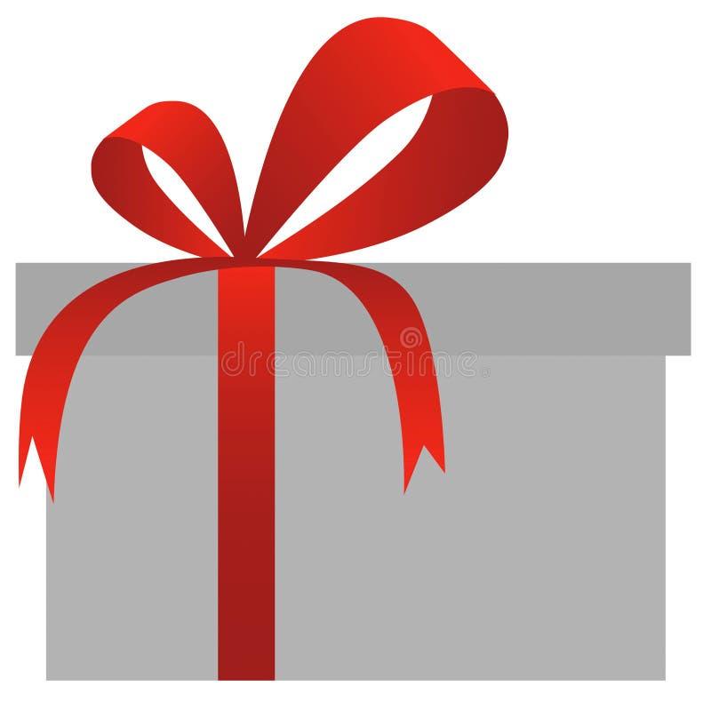 导航红色礼物盒 库存例证