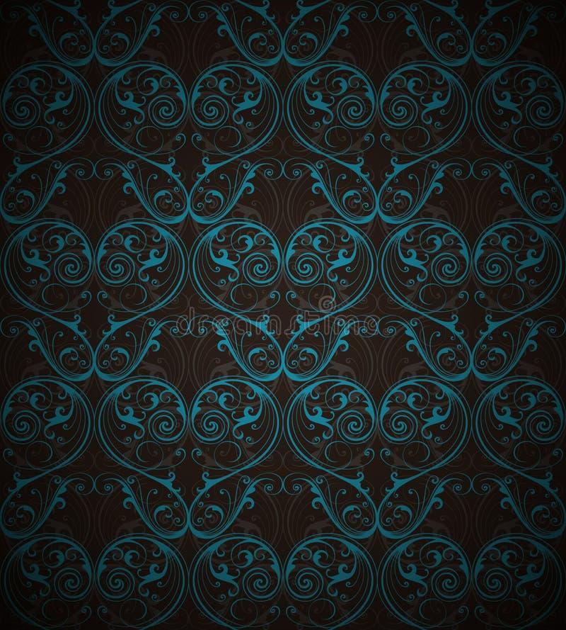 导航纺织品、纸或者表面纹理的锦缎无缝的样式背景 向量例证