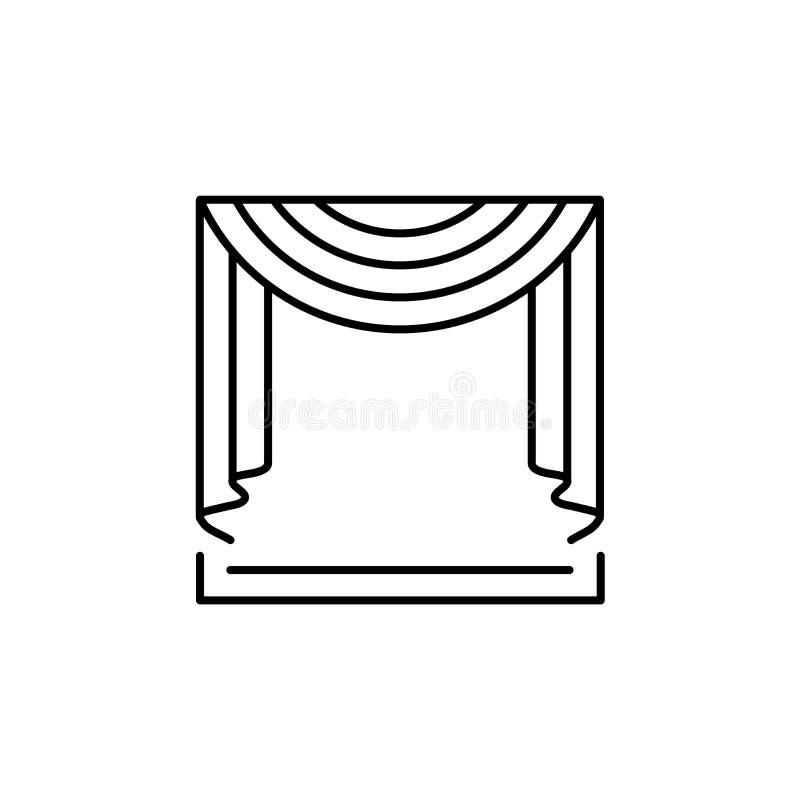 导航织品帷幕的例证有中央赃物布的 皇族释放例证