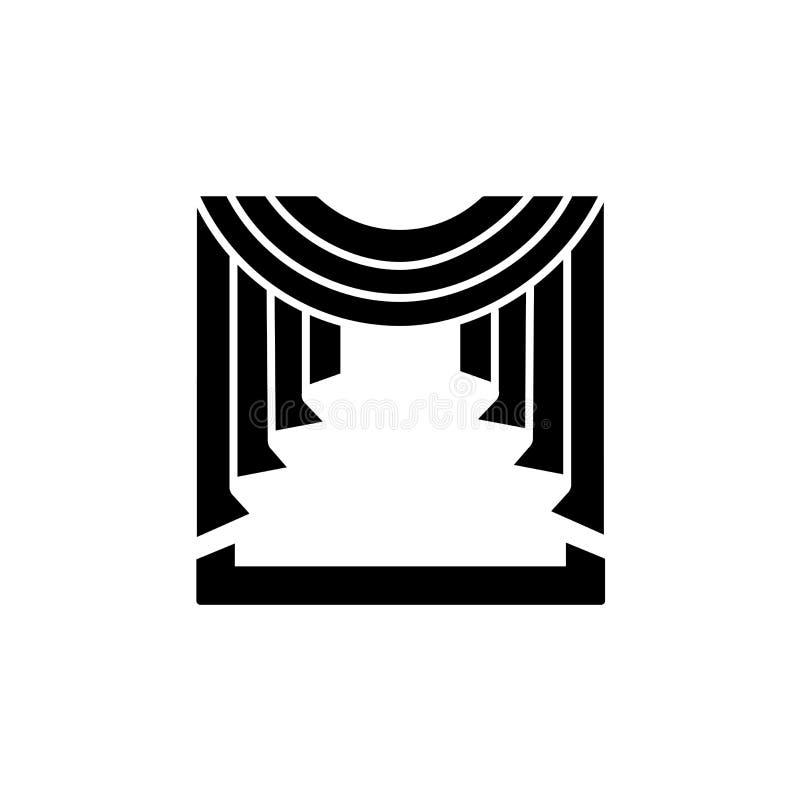 导航织品帷幕的例证有中央赃物布的 向量例证