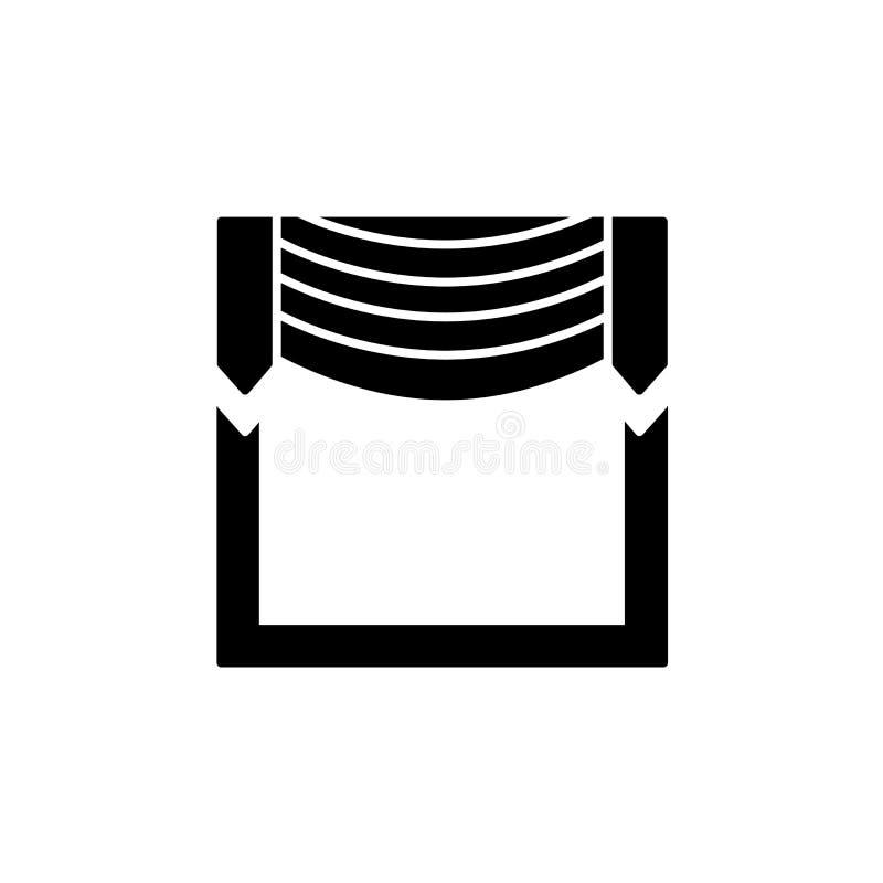 导航织品挂布的例证与中央赃物的 平的集成电路 库存例证