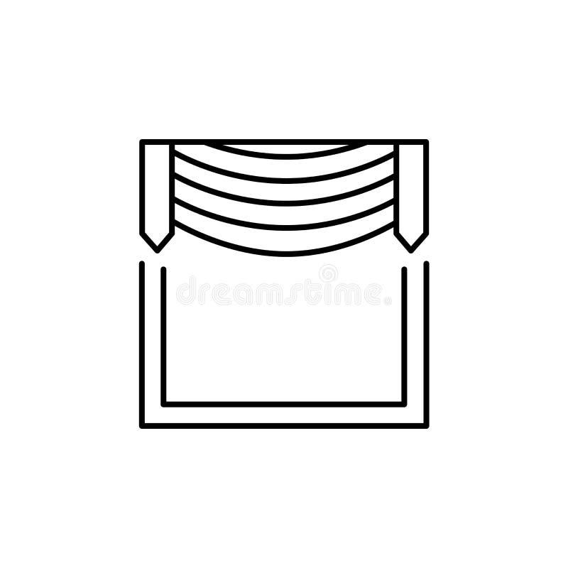 导航织品挂布的例证与中央赃物的 线集成电路 皇族释放例证