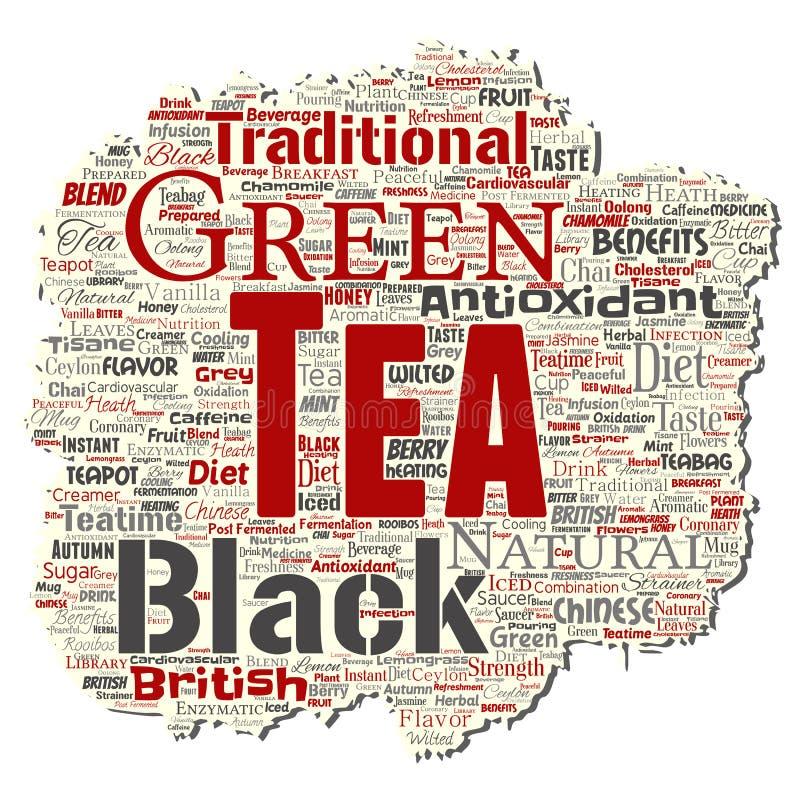 导航绿色或红茶饮料文化 库存例证