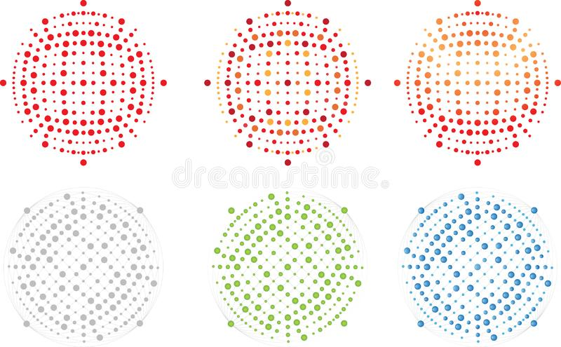 导航编辑可能的天体、小点、斑点,充分的可重新调整的图象、商标和背景组分 向量例证