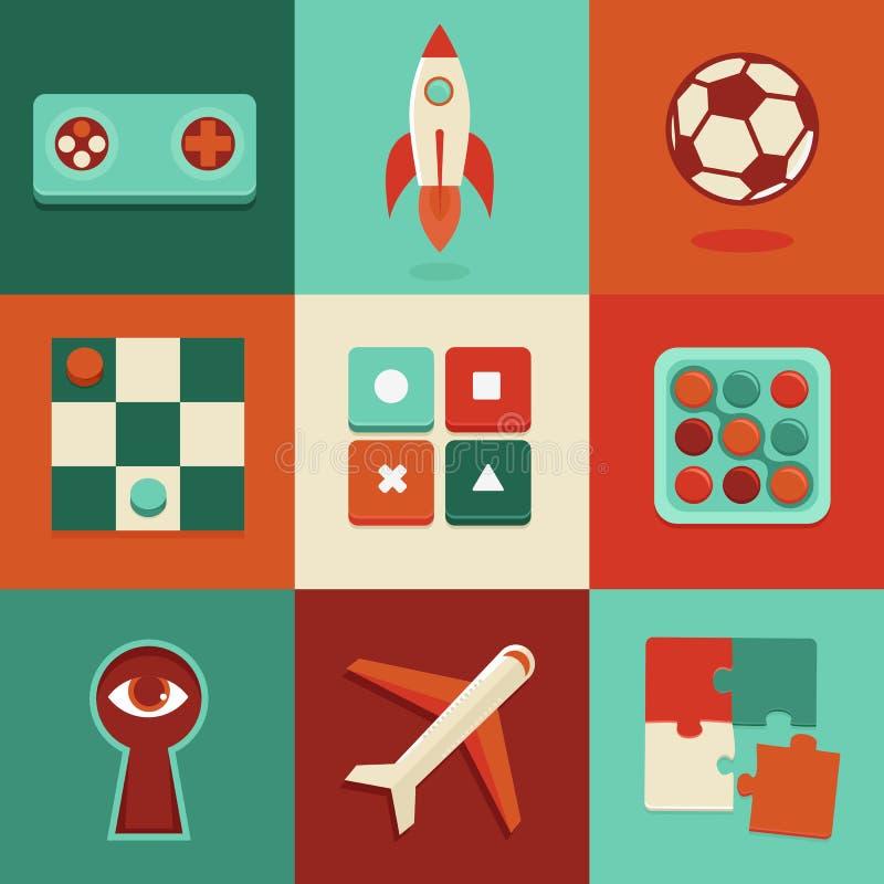 导航网上和流动比赛象和标志 皇族释放例证