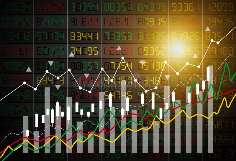 导航股市图表背景的企业概念 库存例证