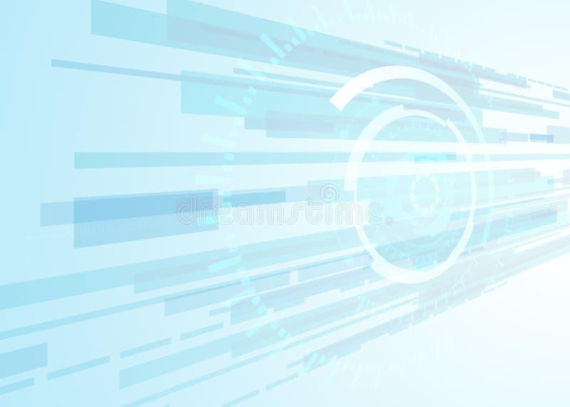 导航背景抽象技术通信概念,未来派背景, techno圈子 库存例证