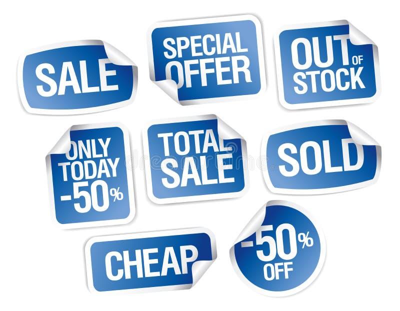 导航脱销销售的贴纸-,便宜,全面销售 皇族释放例证