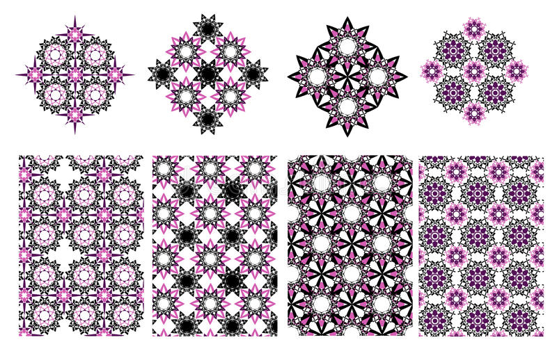 导航花卉种族装饰背景和几何样式 向量例证