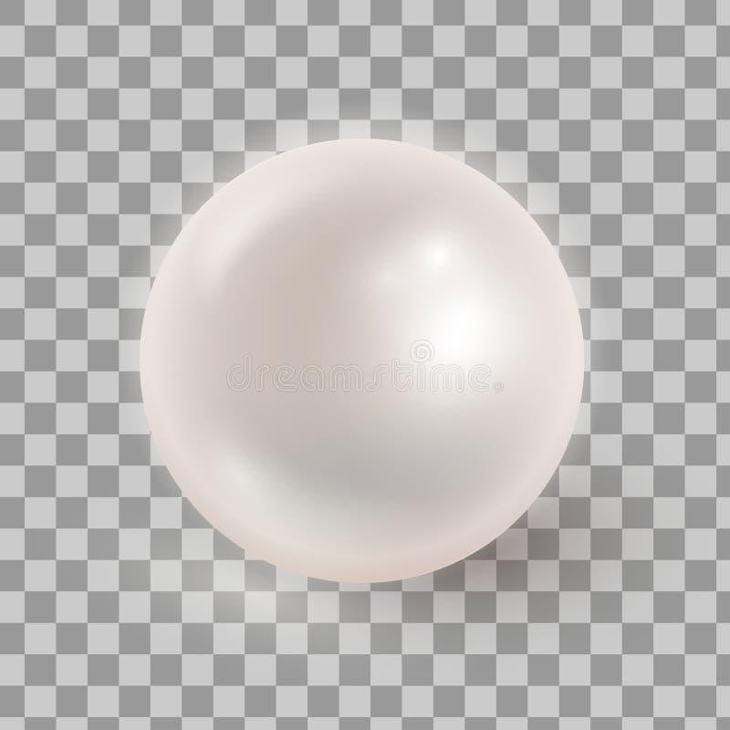 导航被隔绝的现实珍珠的例证transparen ba 库存例证
