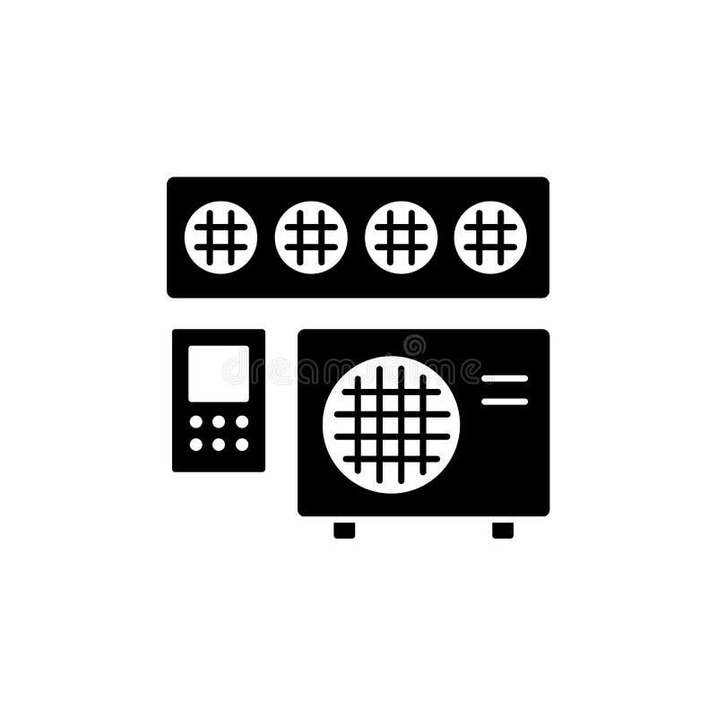 导航输送的空调器的例证有遥远的contro的 向量例证